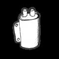 Tændspoler, platiner & kondensator.